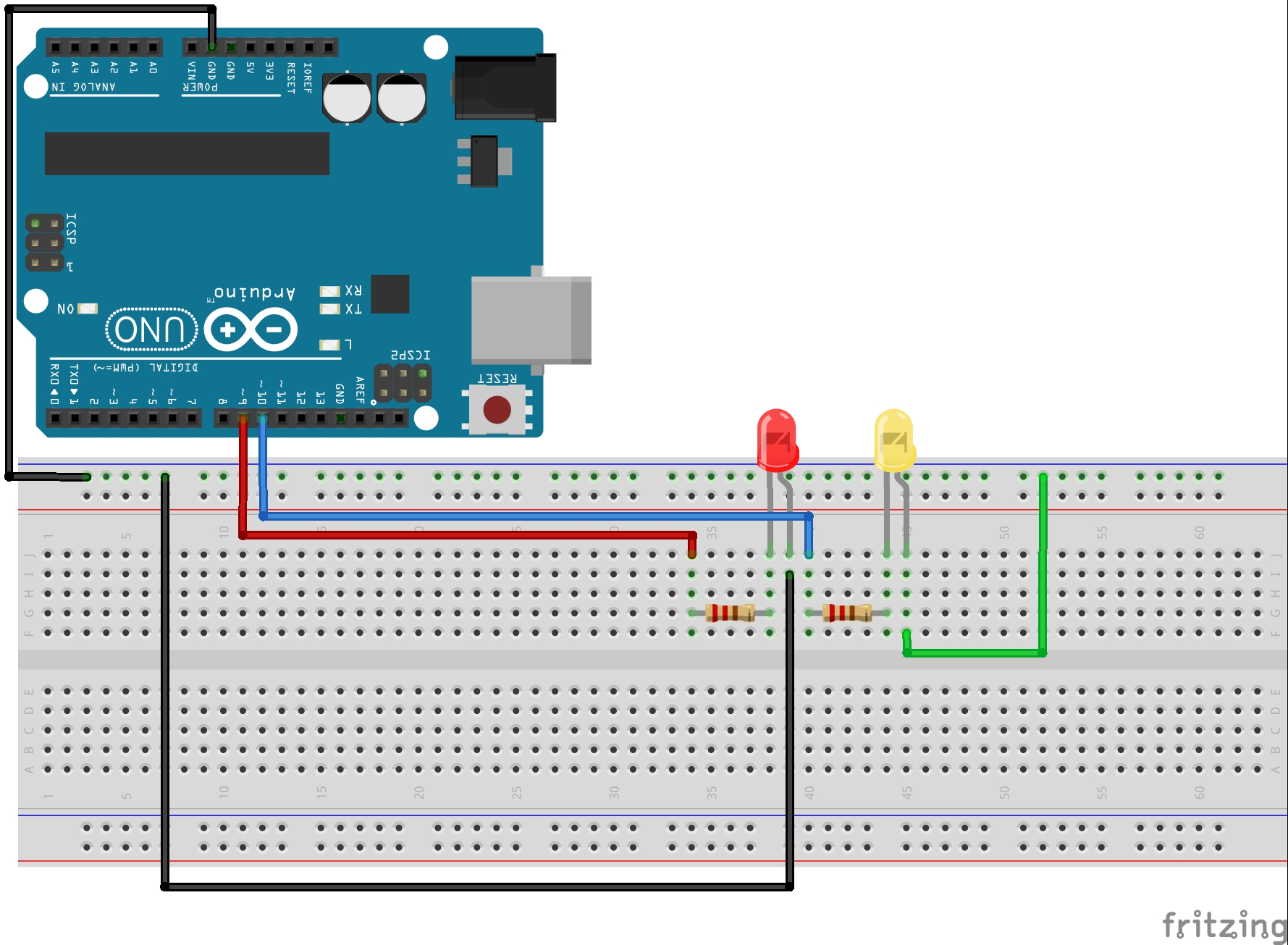 Two LED Schematic | Technology Tutorials Led Schematic on led arduino code, windscreen wiper, strobe light, integrated circuit, led power, led pspice, led symbol, led component, led circuit, led layout, plasma display, led driver, laser diode, liquid crystal display, led display, led polarity, led board, incandescent light bulb, led wire, led wiring, solid-state lighting, led pictorial, thermal management of high-power leds, christmas lighting technology, led street light, led signs, led lamp, led breadboard, led timeline, led pinout, led diagram, black light, led datasheet,
