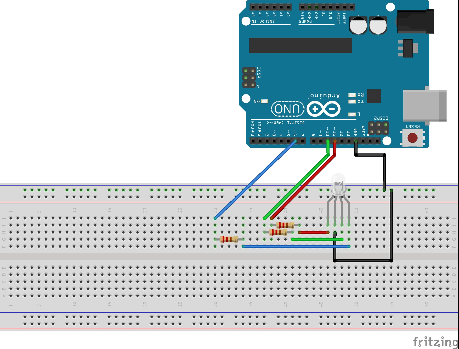 Arduino RGB LED circuit