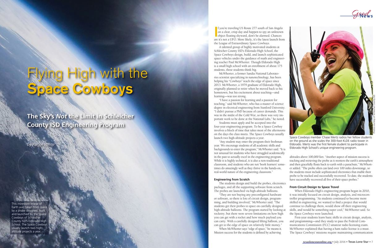 Space Cowboys Featured in Texas Lone Star Magazine