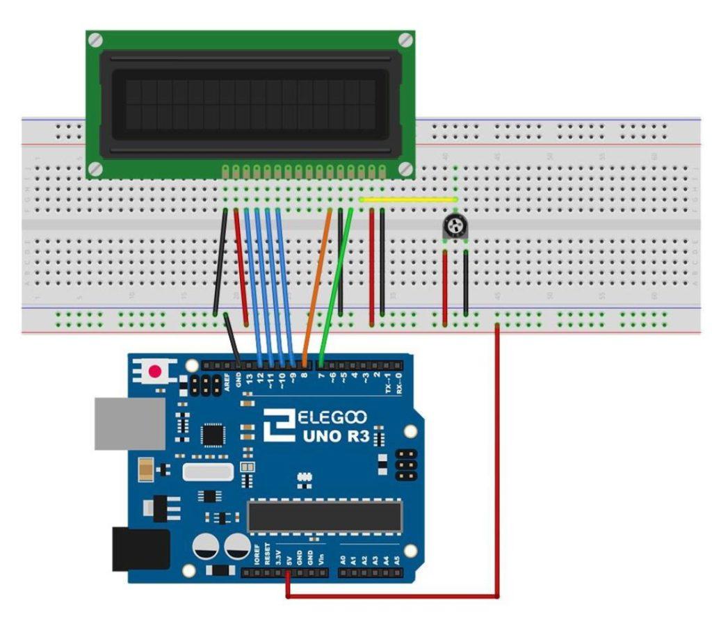 Arduino LCD Schematic